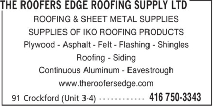 View Roofers Edge Roofing Supply Ltd's York profile