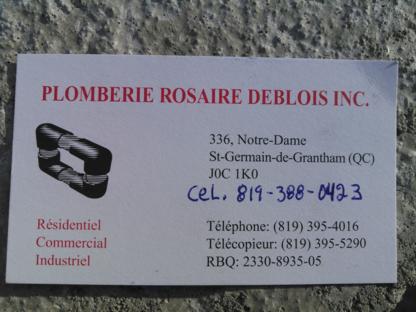 Plomberie Rosaire Deblois Inc - Plombiers et entrepreneurs en plomberie - 819-388-0423