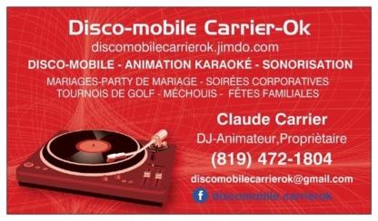 Disco Mobile Carrier-Ok - Dj et discothèques mobiles - 819-472-1804