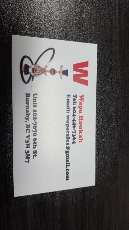 Wapa Hookah Lounge - Bars - 604-446-7364