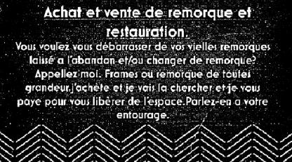 Martin Duguay Récupération de métaux achat/vente remorques - Magasins d'appareils électroménagers d'occasion
