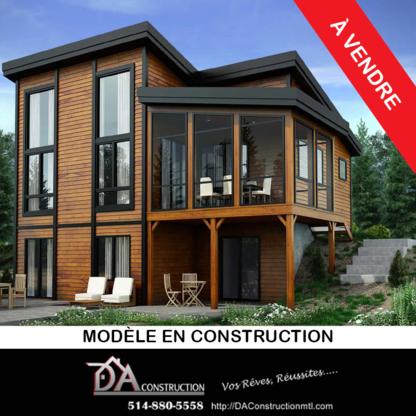 DA Construction - Building Contractors - 514-880-5558