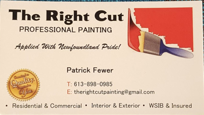 The Right Cut Professional Painting - Painters - 613-898-0985