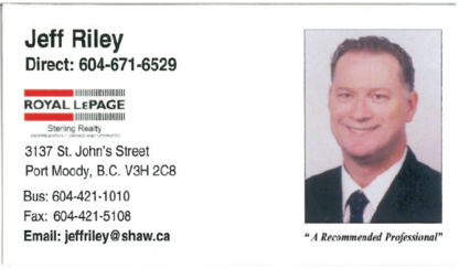 Jeff Riley - Real Estate (General) - 604-671-6529