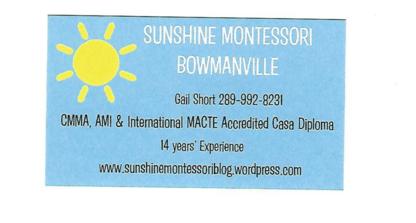 Sunshine Montessori Bowmanville - Écoles maternelles et pré-maternelles - 289-992-8231