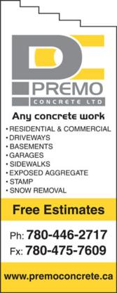 Premo Concrete Ltd - Concrete Contractors