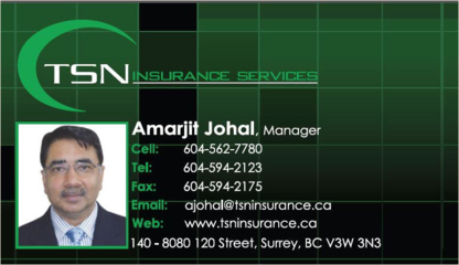 TSN Insurance Services Ltd - Insurance Agents & Brokers - 604-593-5922