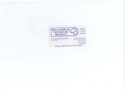 Williamsburg Veterinary Hospital - Vétérinaires - 519-571-7221