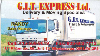 GIT Express Movers Ltd - Moving Services & Storage Facilities - 416-569-9619
