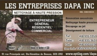 Les Entreprises Dapa Inc - General Contractors