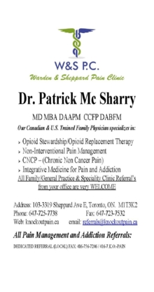 Warden & Sheppard Pain Clinic - Medical Clinics - 647-725-7738