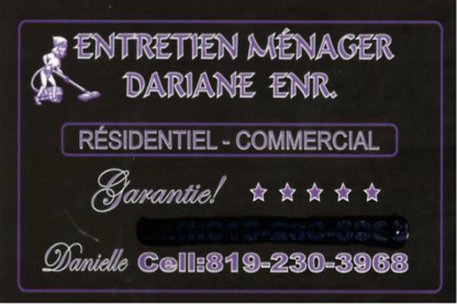 Entretien Ménager Dariane - Commercial, Industrial & Residential Cleaning - 819-230-3968