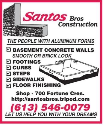 Santos Bros Construction - General Contractors - 613-546-0079