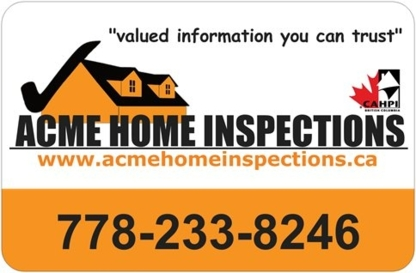 Acme Home Inspections - Home Inspection - 778-233-8246