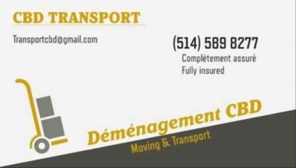 Déménagement CBD Transport - Moving Services & Storage Facilities