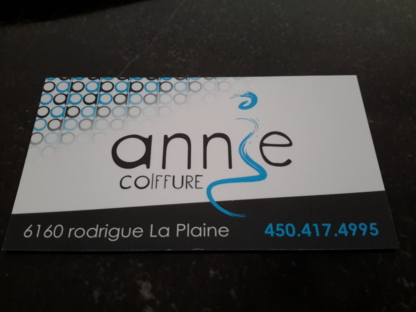 Annie Coiffure - Hairdressers & Beauty Salons - 450-417-4995