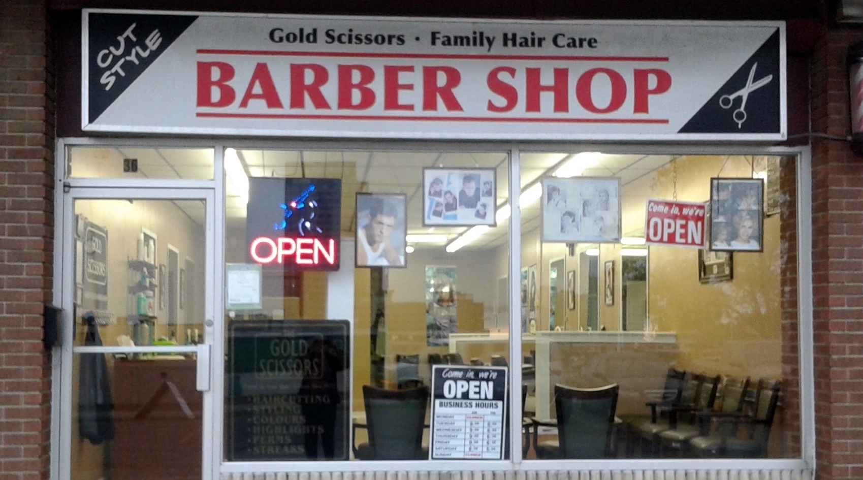 Gold Scissors Barber Shop and Family Hair Care - Opening ...