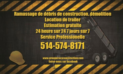 Groupe Recy Construction Inc - Bulky, Commercial & Industrial Waste Removal
