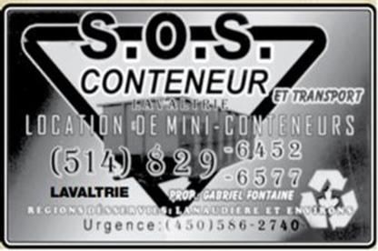 S O S Conteneur et Transport - Waste Containers - 514-829-6452