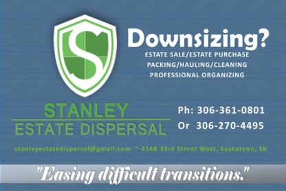 Stanley Estate Dispersal - Estate Management & Planning - 306-270-4495