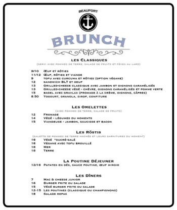 Beaufort - Restaurants - 514-274-6969