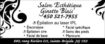 Salon d'Esthétique Ginette Blais - Épilation laser - 450-521-7955