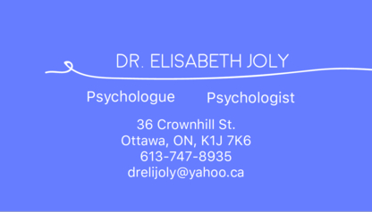 Joly Elisabeth - Mental Health Services & Counseling Centres - 613-747-8935