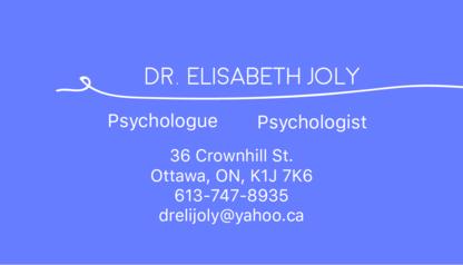 Joly Elisabeth - Psychologists - 613-747-8935