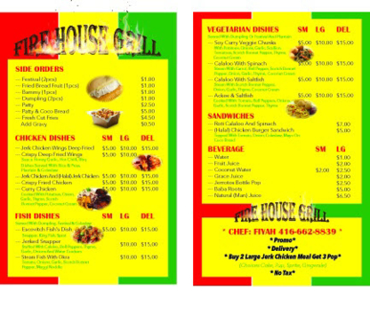 Fire House Grill Food Truck - Camions-Restaurants - 416-662-8839