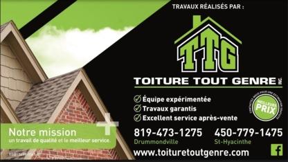Toiture Tout Genre - Couvreurs - 450-779-1475