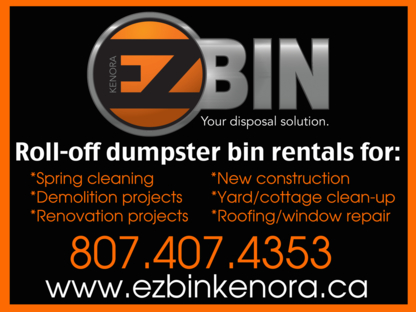EZ Bin Kenora - Residential & Commercial Waste Treatment & Disposal - 807-407-4353
