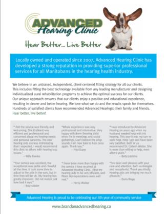 Advanced Hearing Clinic Ltd - Audiologists - 204-727-4327