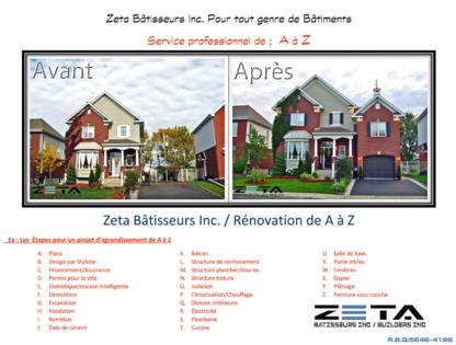 ZETA Bâtisseurs Inc - Building Contractors - 514-467-6444