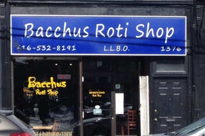 Bacchus Roti Shop - Vegetarian Restaurants - 416-532-8191