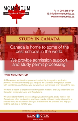 Momentum Immigration and Education Consultancy - Conseillers en immigration et en naturalisation