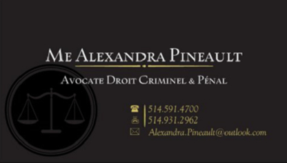 Alexandra Pineault Avocate - Criminal Lawyers - 514-591-4700
