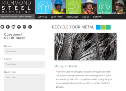 Richmond Steel Recycling Ltd - Scrap Metals - 604-324-4656