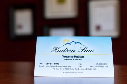 Terrance E Hudson Law Office - Avocats en infractions routières - 250-847-8000