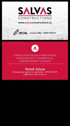 Les Constructions Salvas - Rénovations - 819-437-4379