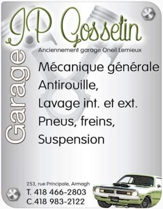 Garage JP Gosselin - Garages de réparation d'auto - 418-466-2803