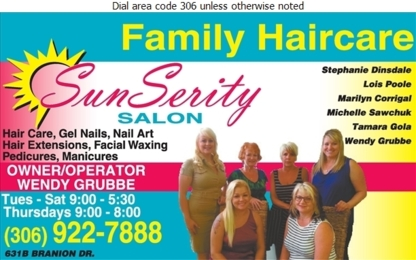 Sunserity Salon - Coiffure africaine - 306-922-7888