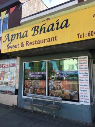 Apna Bhaia Sweets & Restaurant - Restaurants - 604-323-2805