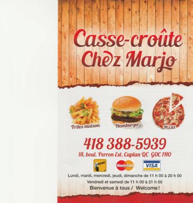 Casse-Croûte chez Marjo - Restaurants - 418-388-5939