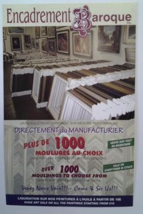 Baroque Picture Frames - Magasins de cadres - 514-273-5455
