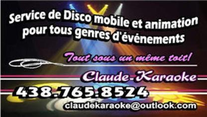Claude Karaoké - Dj Service - 438-765-8524