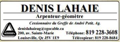 View Denis Lahaie Arpenteur Géomètre's Saint-Cuthbert profile