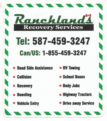 Ranchlands Recovery Services Ltd - Vehicle Towing