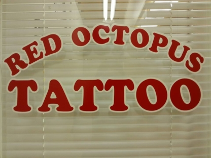Red Octopus Tattoo - Tatouage