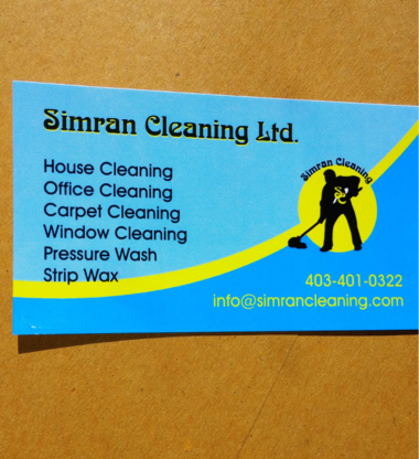 Simran Cleaning - Commercial, Industrial & Residential Cleaning - 403-401-0322