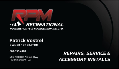 RPM Repairs - All-Terrain Vehicles - 867-335-4181